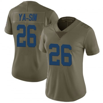 Women's Nike Indianapolis Colts Rock Ya-Sin Green 2017 Salute to Service Jersey - Limited