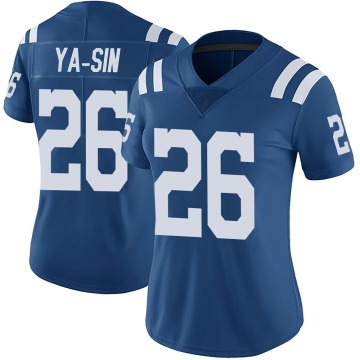 Women's Nike Indianapolis Colts Rock Ya-Sin Royal Color Rush Vapor Untouchable Jersey - Limited