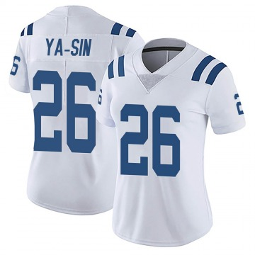 Women's Nike Indianapolis Colts Rock Ya-Sin White Vapor Untouchable Jersey - Limited