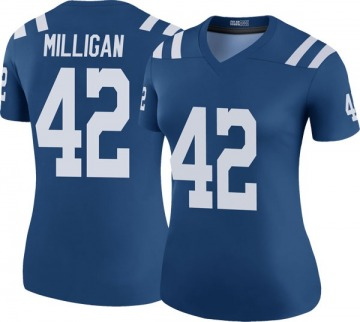 Women's Nike Indianapolis Colts Rolan Milligan Royal Color Rush Jersey - Legend