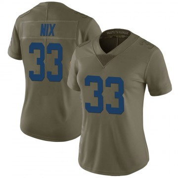 Women's Nike Indianapolis Colts Roosevelt Nix Green 2017 Salute to Service Jersey - Limited