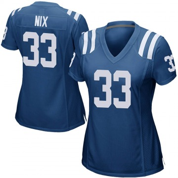 Women's Nike Indianapolis Colts Roosevelt Nix Royal Blue Team Color Jersey - Game