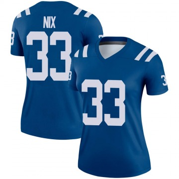 Women's Nike Indianapolis Colts Roosevelt Nix Royal Jersey - Legend