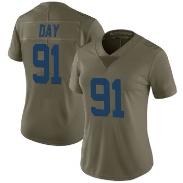 Women's Nike Indianapolis Colts Sheldon Day Green 2017 Salute to Service Jersey - Limited