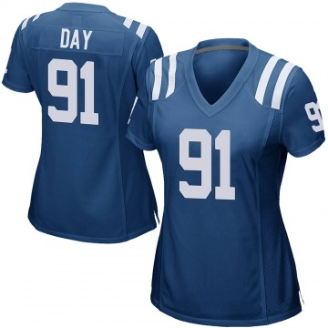Women's Nike Indianapolis Colts Sheldon Day Royal Blue Team Color Jersey - Game