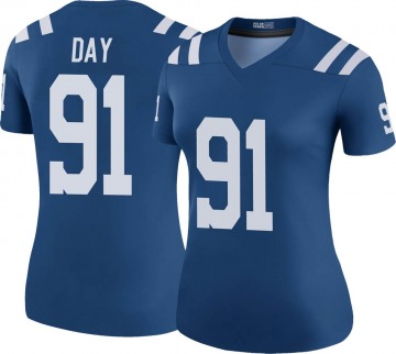 Women's Nike Indianapolis Colts Sheldon Day Royal Color Rush Jersey - Legend