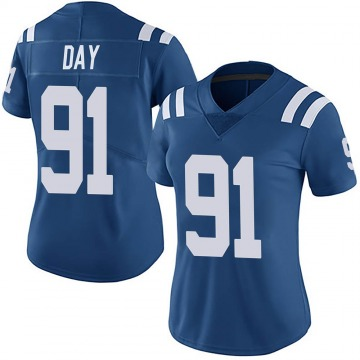 Women's Nike Indianapolis Colts Sheldon Day Royal Team Color Vapor Untouchable Jersey - Limited
