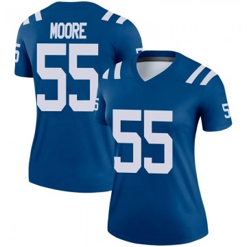 Women's Nike Indianapolis Colts Skai Moore Royal Jersey - Legend