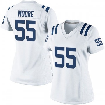 Women's Nike Indianapolis Colts Skai Moore White Jersey - Game