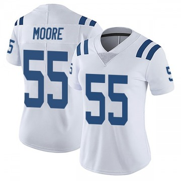 Women's Nike Indianapolis Colts Skai Moore White Vapor Untouchable Jersey - Limited
