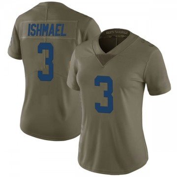 Women's Nike Indianapolis Colts Steve Ishmael Green 2017 Salute to Service Jersey - Limited
