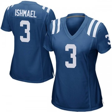 Women's Nike Indianapolis Colts Steve Ishmael Royal Blue Team Color Jersey - Game