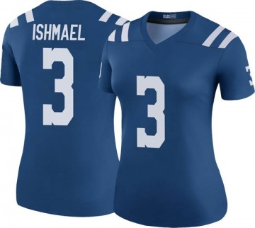 Women's Nike Indianapolis Colts Steve Ishmael Royal Color Rush Jersey - Legend