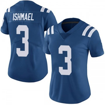 Women's Nike Indianapolis Colts Steve Ishmael Royal Team Color Vapor Untouchable Jersey - Limited