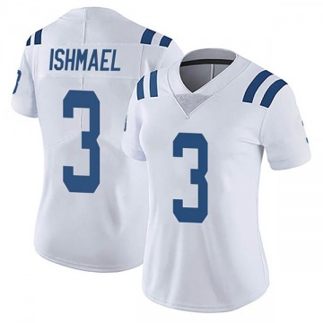 Women's Nike Indianapolis Colts Steve Ishmael White Vapor Untouchable Jersey - Limited
