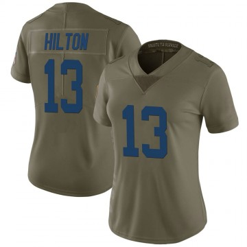 Women's Nike Indianapolis Colts T.Y. Hilton Green 2017 Salute to Service Jersey - Limited