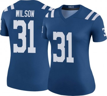 Women's Nike Indianapolis Colts Tavon Wilson Royal Color Rush Jersey - Legend