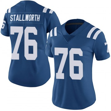 Women's Nike Indianapolis Colts Taylor Stallworth Royal Team Color Vapor Untouchable Jersey - Limited