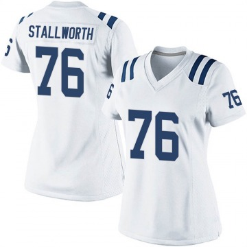 Women's Nike Indianapolis Colts Taylor Stallworth White Jersey - Game