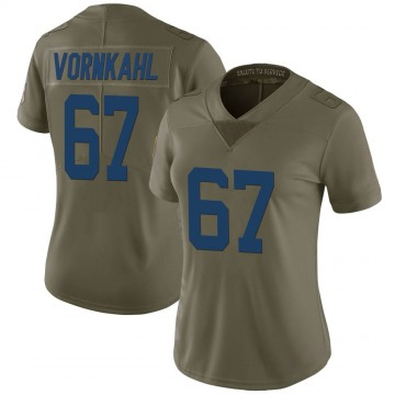 Women's Nike Indianapolis Colts Travis Vornkahl Green 2017 Salute to Service Jersey - Limited