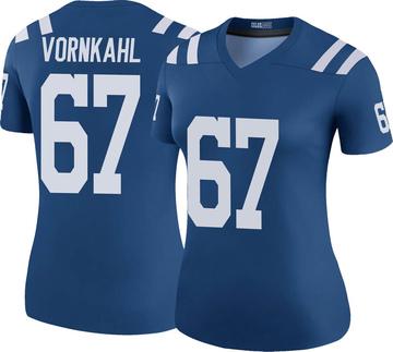 Women's Nike Indianapolis Colts Travis Vornkahl Royal Color Rush Jersey - Legend