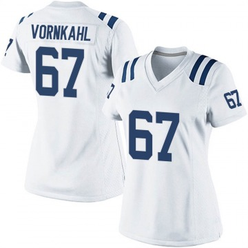 Women's Nike Indianapolis Colts Travis Vornkahl White Jersey - Game
