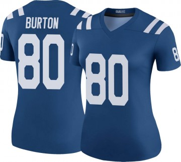 Women's Nike Indianapolis Colts Trey Burton Royal Color Rush Jersey - Legend