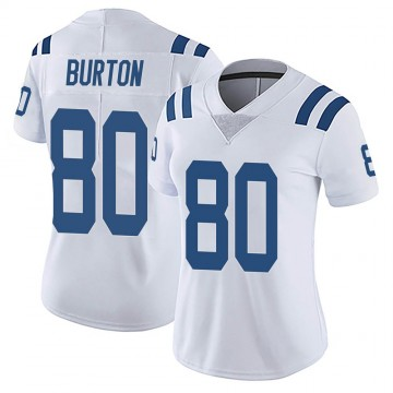Women's Nike Indianapolis Colts Trey Burton White Vapor Untouchable Jersey - Limited