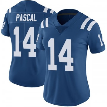 Women's Nike Indianapolis Colts Zach Pascal Royal Color Rush Vapor Untouchable Jersey - Limited