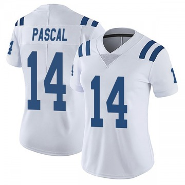 Women's Nike Indianapolis Colts Zach Pascal White Vapor Untouchable Jersey - Limited