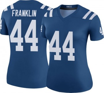 Women's Nike Indianapolis Colts Zaire Franklin Royal Color Rush Jersey - Legend