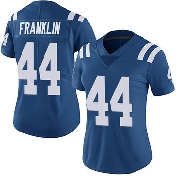Women's Nike Indianapolis Colts Zaire Franklin Royal Team Color Vapor Untouchable Jersey - Limited
