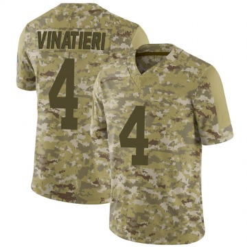 Youth Nike Indianapolis Colts Adam Vinatieri Camo 2018 Salute to Service Jersey - Limited