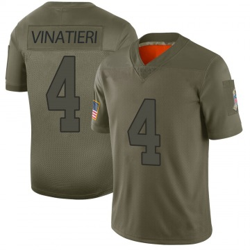 Youth Nike Indianapolis Colts Adam Vinatieri Camo 2019 Salute to Service Jersey - Limited