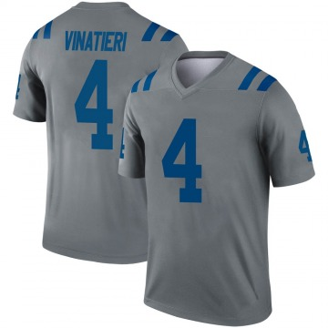 Youth Nike Indianapolis Colts Adam Vinatieri Gray Inverted Jersey - Legend
