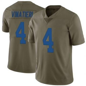 Youth Nike Indianapolis Colts Adam Vinatieri Green 2017 Salute to Service Jersey - Limited