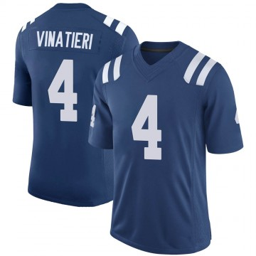 Youth Nike Indianapolis Colts Adam Vinatieri Royal 100th Vapor Jersey - Limited