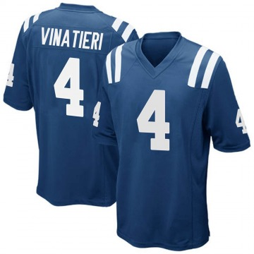 Youth Nike Indianapolis Colts Adam Vinatieri Royal Blue Team Color Jersey - Game