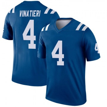Youth Nike Indianapolis Colts Adam Vinatieri Royal Inverted Jersey - Legend