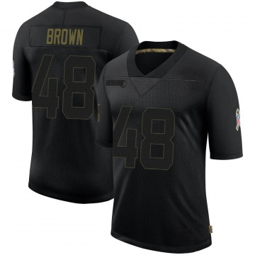 Youth Nike Indianapolis Colts Billy Brown Black 2020 Salute To Service Jersey - Limited