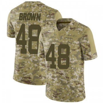 Youth Nike Indianapolis Colts Billy Brown Brown Camo 2018 Salute to Service Jersey - Limited