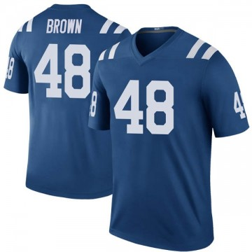 Youth Nike Indianapolis Colts Billy Brown Brown Color Rush Royal Jersey - Legend
