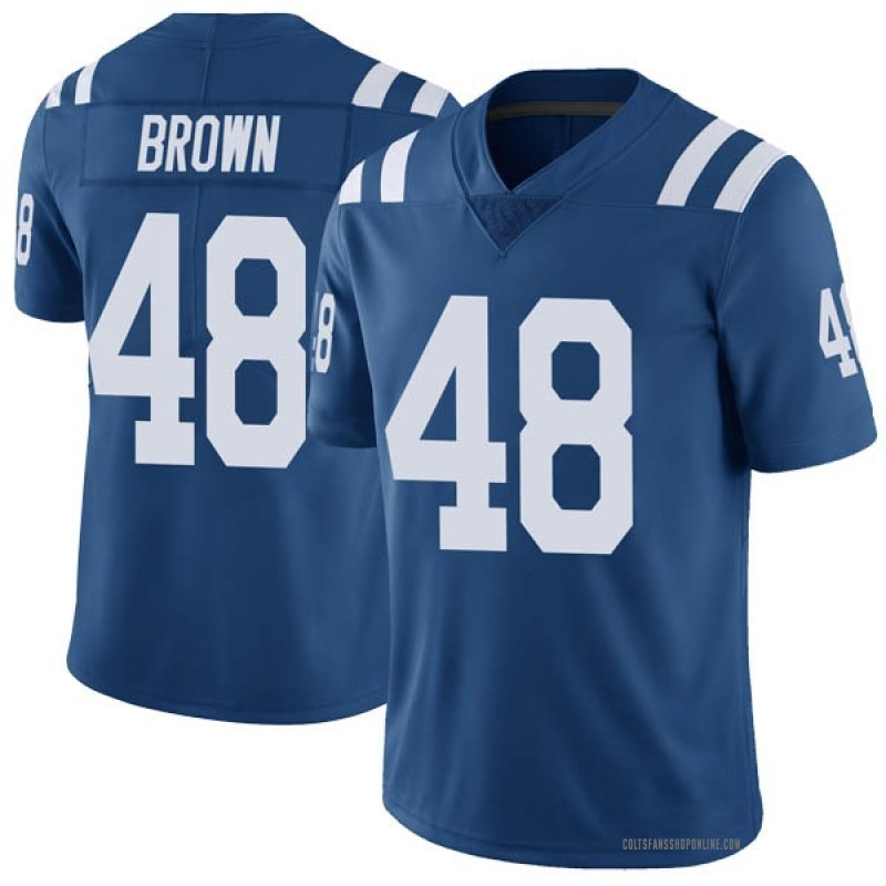 brand new ca9e1 1117e Youth Nike Indianapolis Colts Billy Brown Brown Color Rush Royal Vapor  Untouchable Jersey - Limited