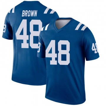 Youth Nike Indianapolis Colts Billy Brown Brown Inverted Royal Jersey - Legend