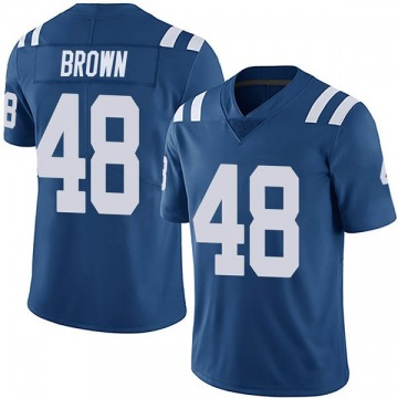Youth Nike Indianapolis Colts Billy Brown Brown Royal Team Color Vapor Untouchable Jersey - Limited