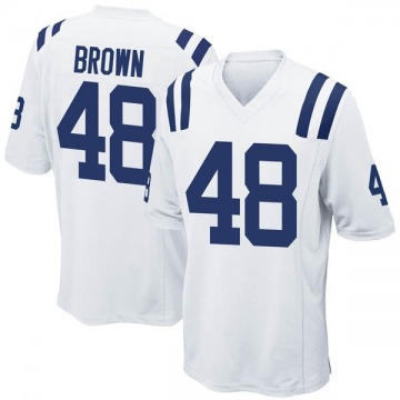 Youth Nike Indianapolis Colts Billy Brown White Jersey - Game