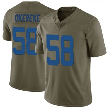 Youth Nike Indianapolis Colts Bobby Okereke Green 2017 Salute to Service Jersey - Limited