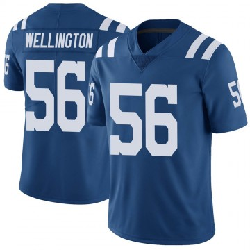 Youth Nike Indianapolis Colts Brandon Wellington Royal Color Rush Vapor Untouchable Jersey - Limited