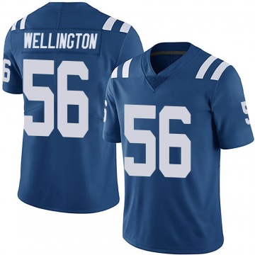 Youth Nike Indianapolis Colts Brandon Wellington Royal Team Color Vapor Untouchable Jersey - Limited