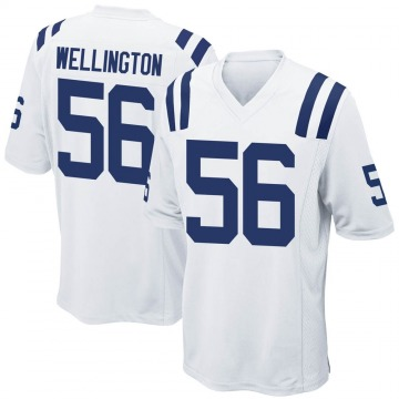 Youth Nike Indianapolis Colts Brandon Wellington White Jersey - Game